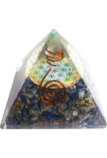 Orgonit Pyramide mit Lapislazuli und Blume des Lebens