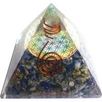 thumb-Orgonit Pyramide mit Lapislazuli und Blume des Lebens-2