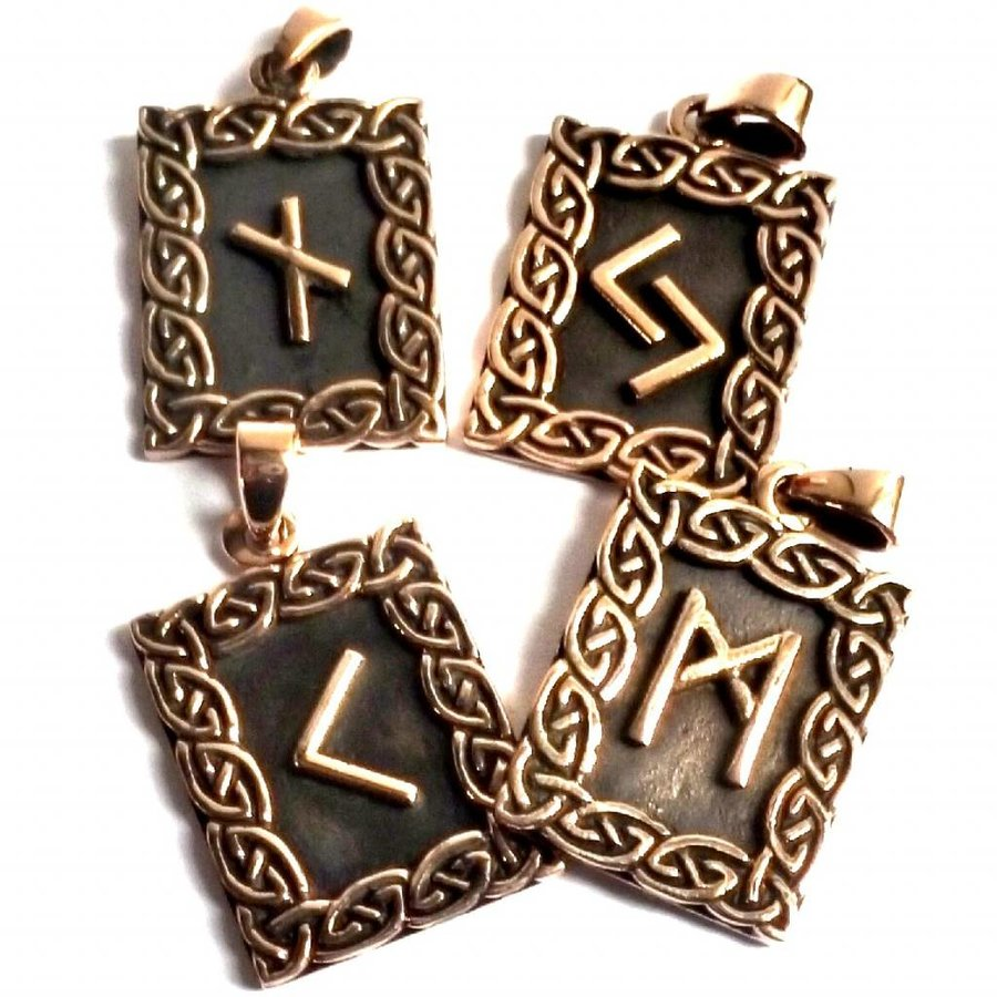 Amulett Rune, Dagaz Anhänger-3