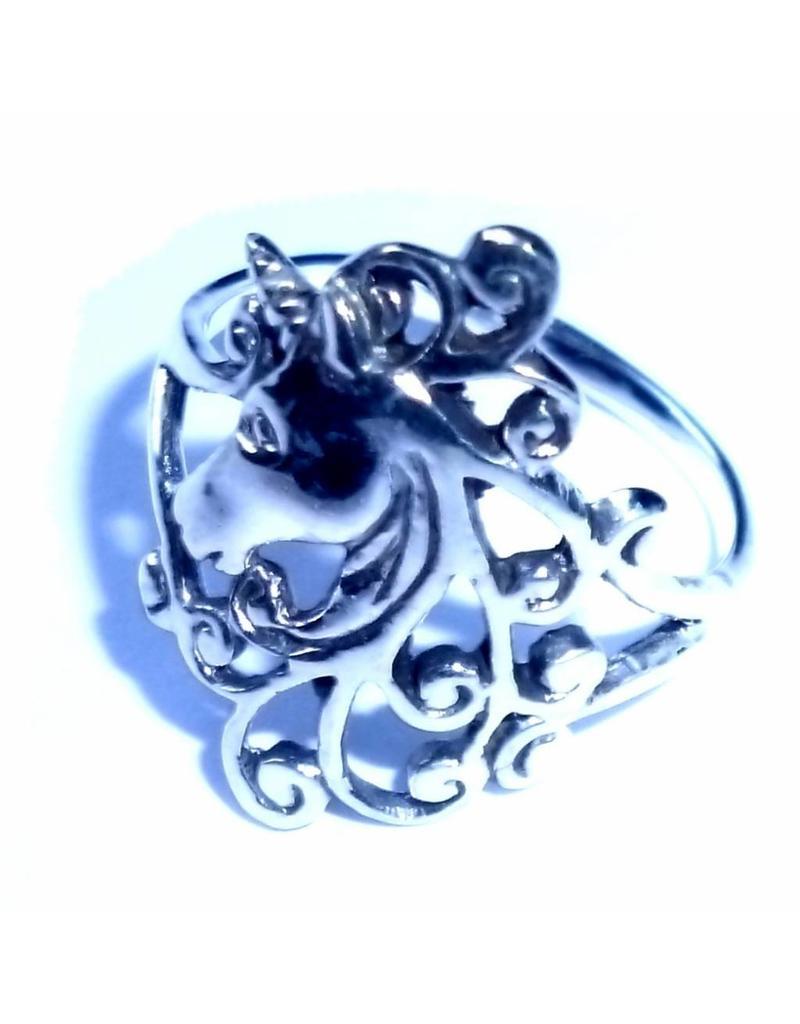 Ring mit Einhorn, 925 Sterling Silber