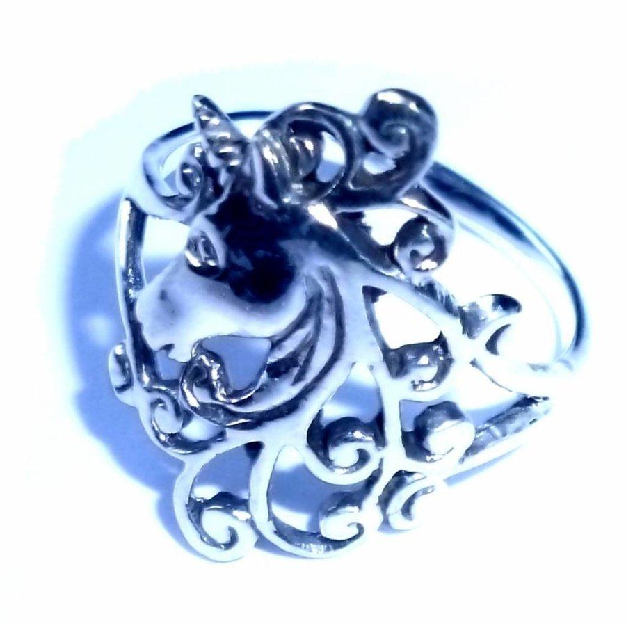 Ring mit Einhorn, 925 Sterling Silber-2