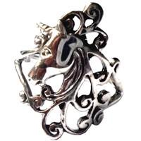 thumb-Ring mit Einhorn, 925 Sterling Silber-3