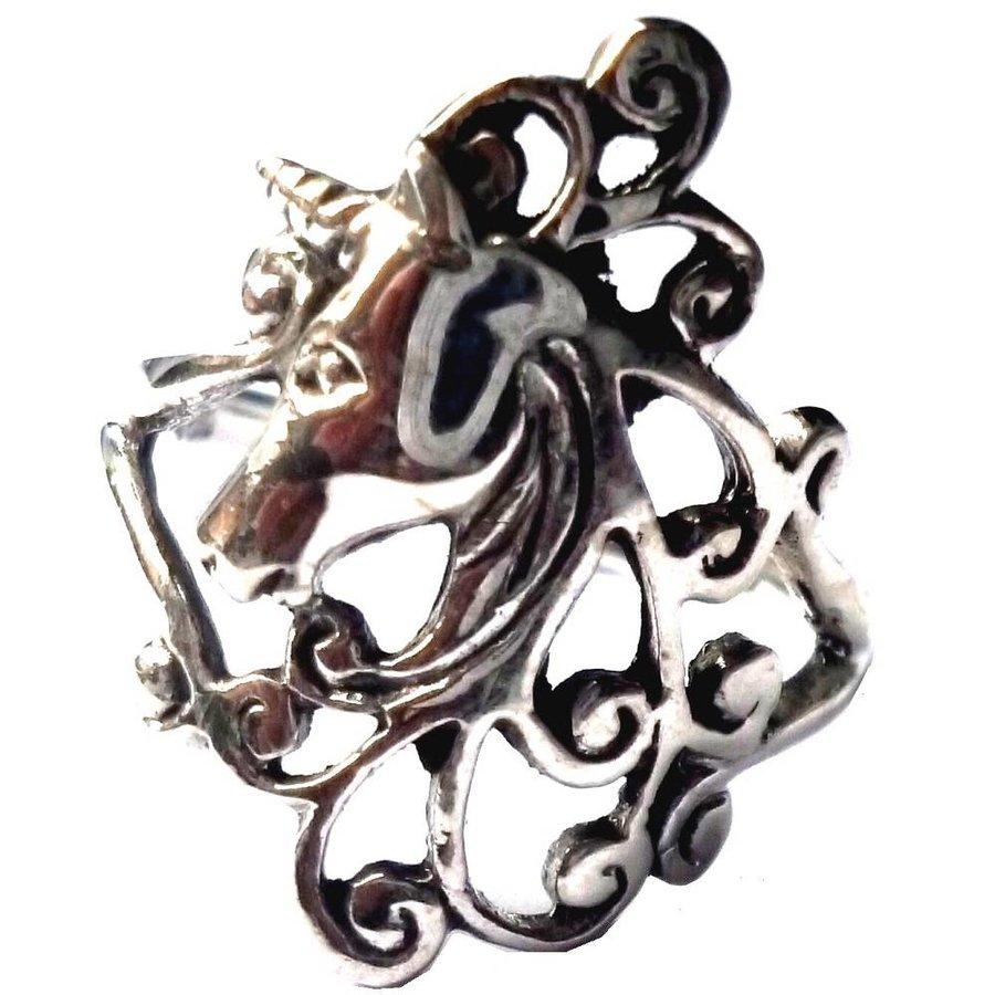 Ring mit Einhorn, 925 Sterling Silber-3