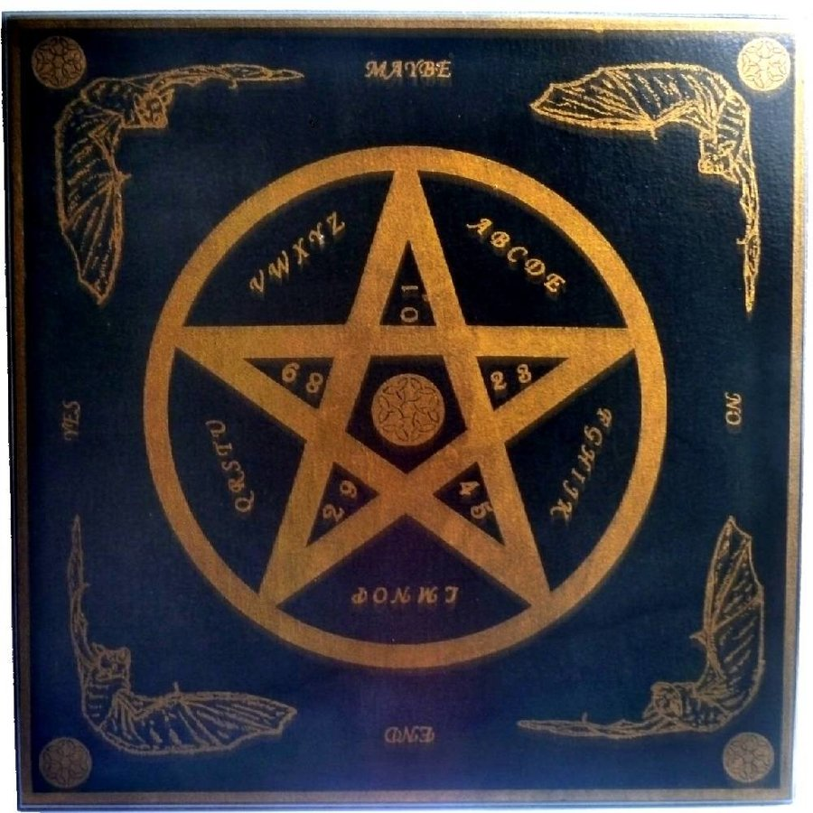Witchboard klein mit Pentagramm-2