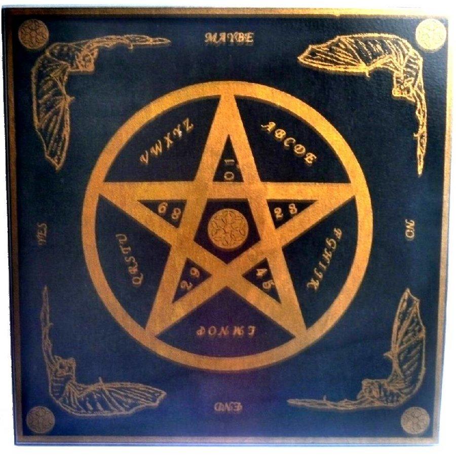 Witchboard klein mit Pentagramm-3