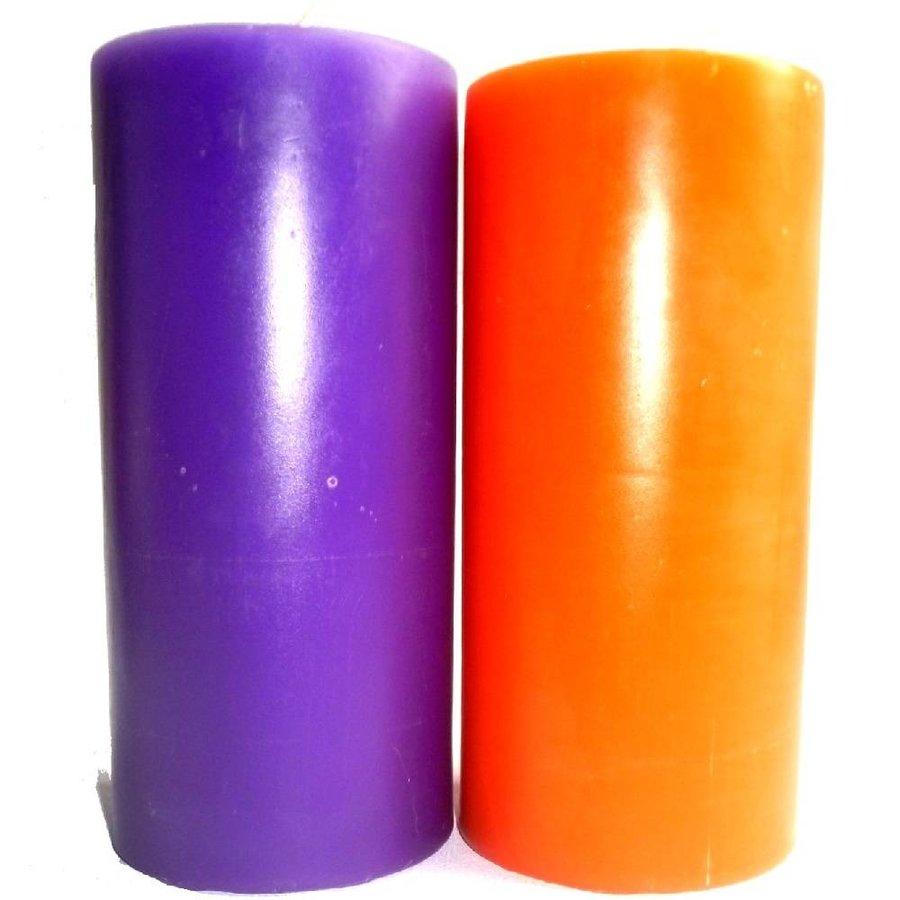 Durchgefärbte Stumpenkerzen-5