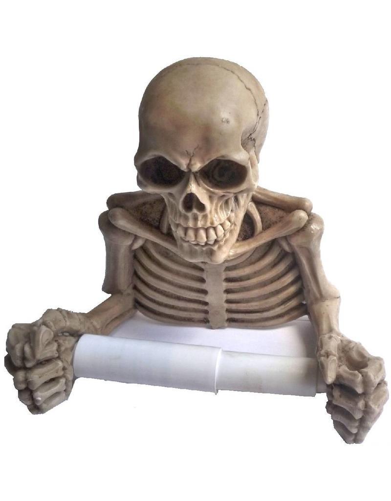 Toilettenpapierhalter Totenkopf
