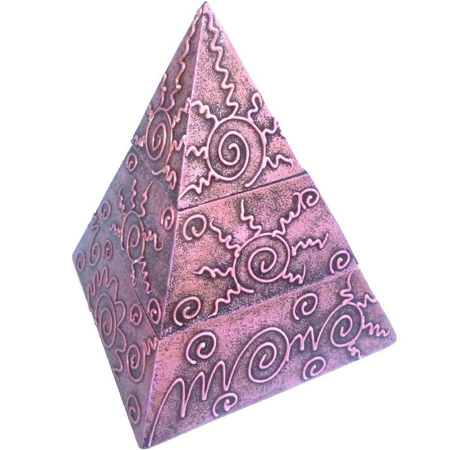 Pyramiden Kästchen mit 2 Fächern-2