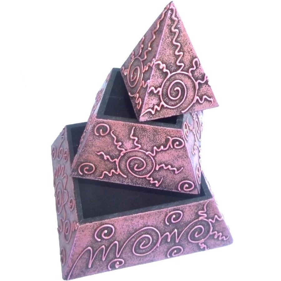 Pyramiden Kästchen mit 2 Fächern-3