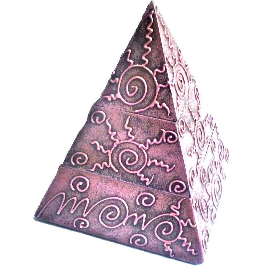 Pyramiden Kästchen mit 2 Fächern-1