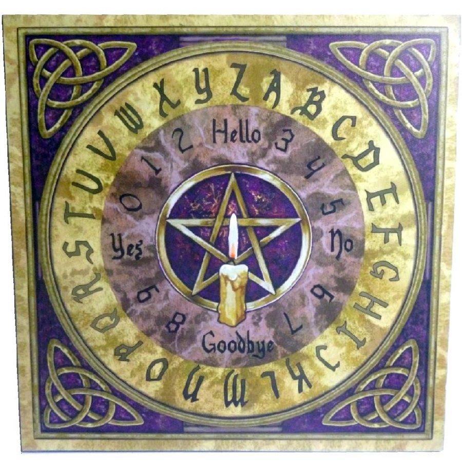 Witchboard klein mit Pentagramm und Triquetta-2