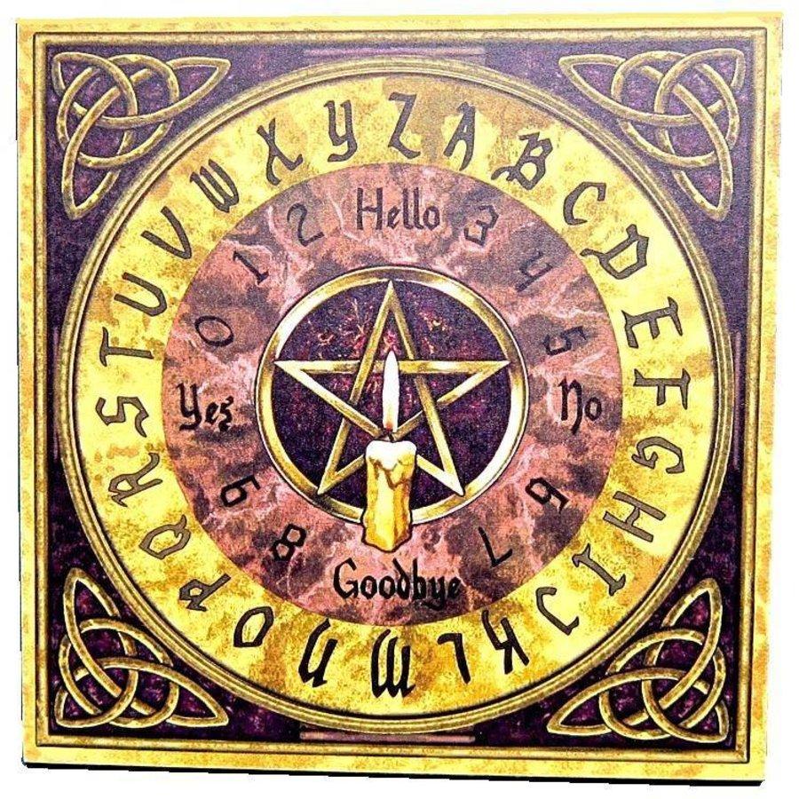 Witchboard klein mit Pentagramm und Triquetta-1