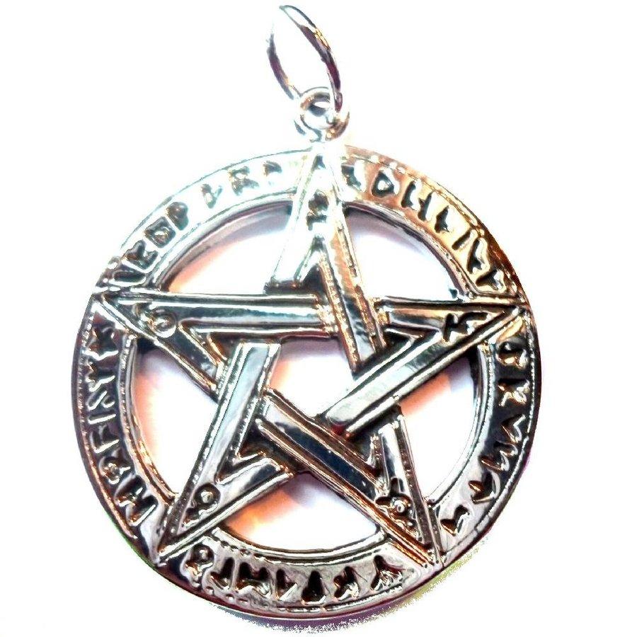 Pentagramm Anhänger, Sterling Silber, ca. 28 mm-1