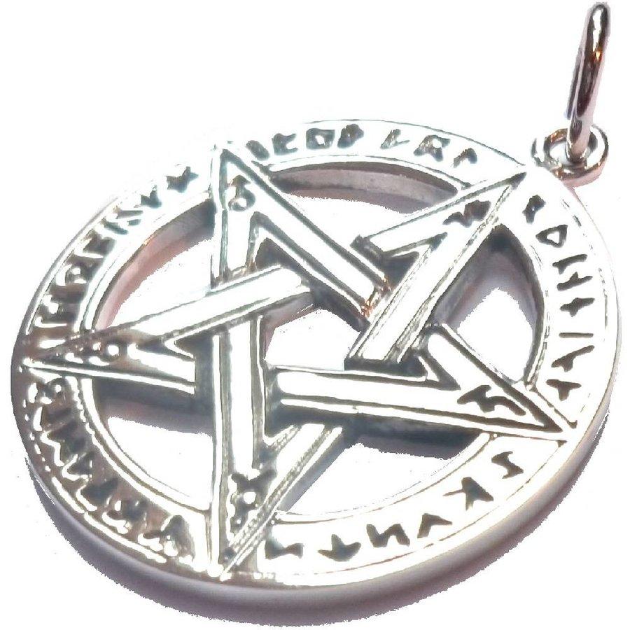 Pentagramm Anhänger, Sterling Silber, ca. 28 mm-2