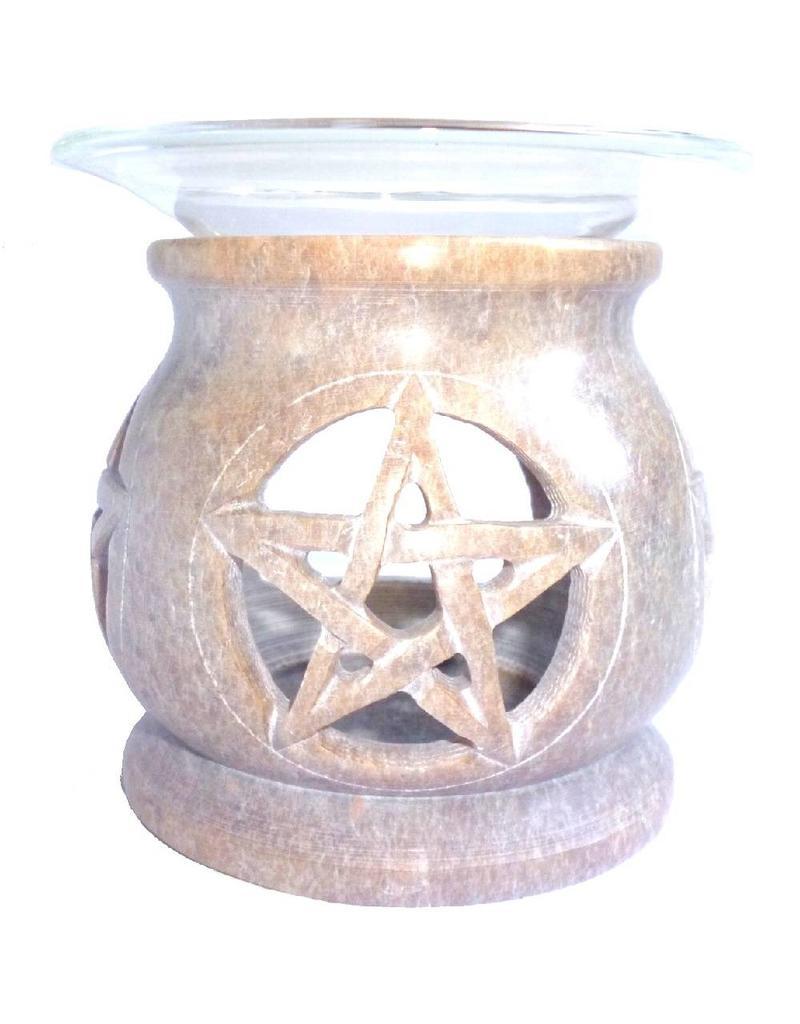 Pentagramme Duftlampe Pentagramm eckig oder rund