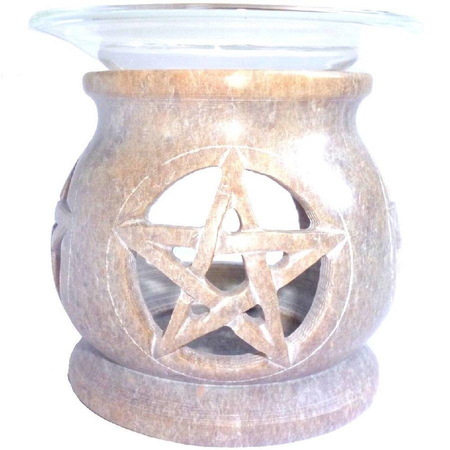 Duftlampe Pentagramm eckig oder rund-4