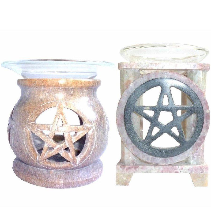 Duftlampe Pentagramm eckig oder rund-2