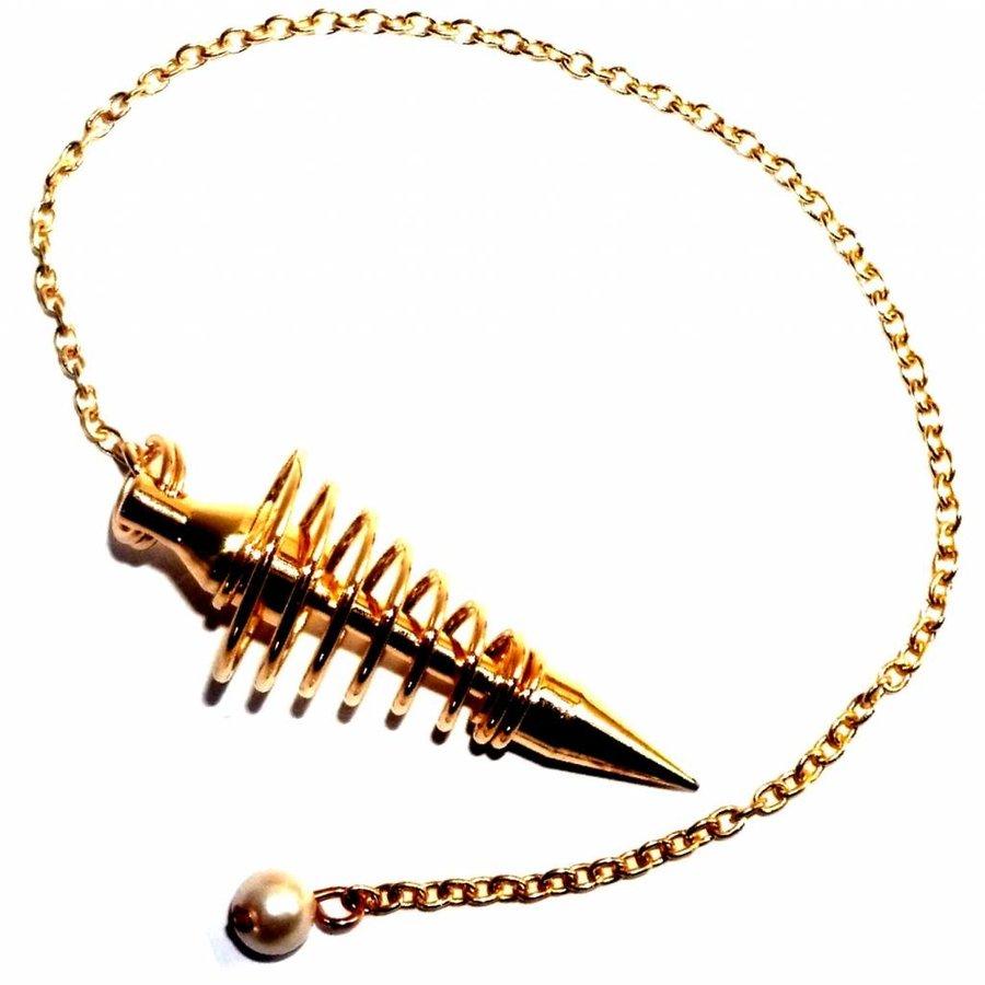 Vergoldetes Spiralpendel-1