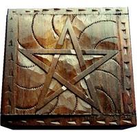 thumb-Holzkästchen Pentagramm-1
