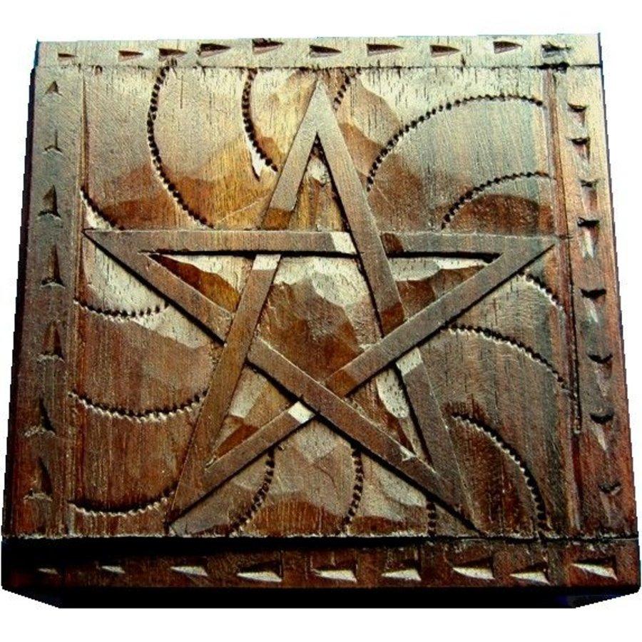 Holzkästchen Pentagramm-1