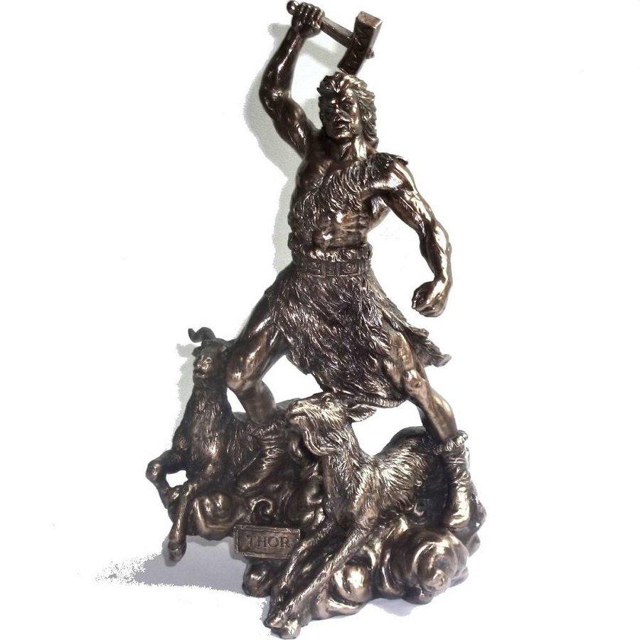 Thor aus Polyresin, bronziert-1