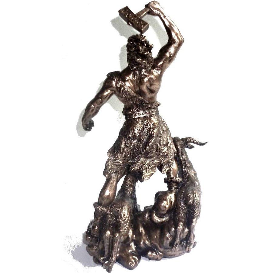 Thor aus Polyresin, bronziert-3