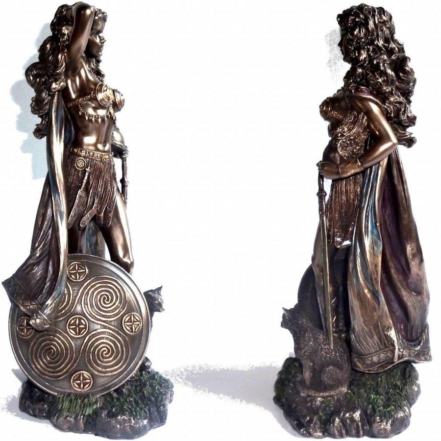 Freya aus Polyresin, bronziert-2