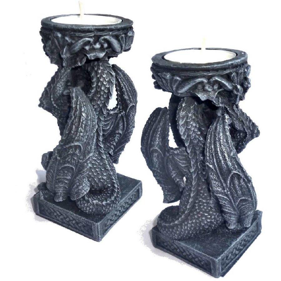 Drachen Teelichthalter-3
