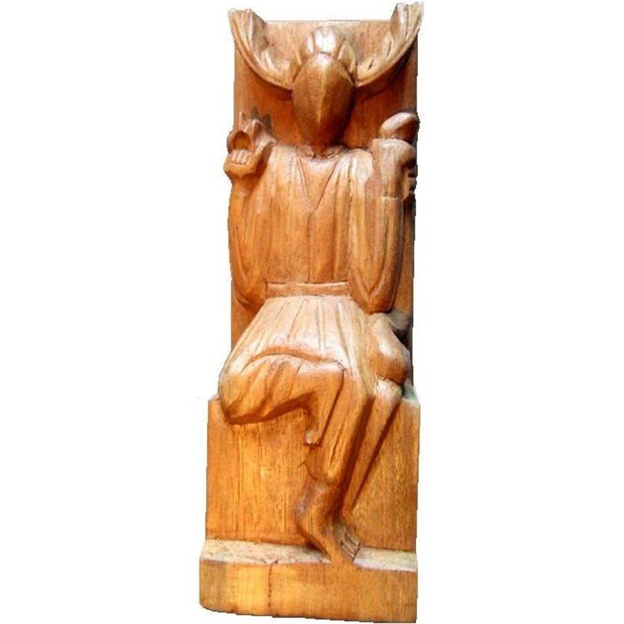 Gehörnter Gott aus Holz-1