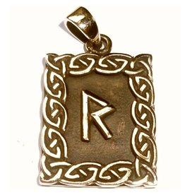 Runen Raido Rune, Amulett