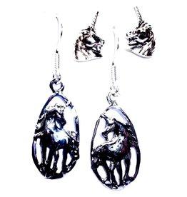 Einhorn Ohrringe Silber