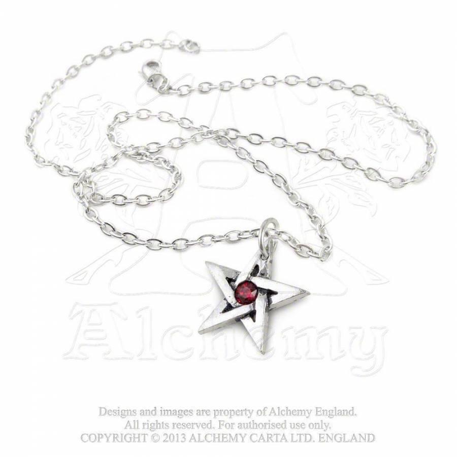 Pentagramm mit Kristall  Anhänger-1