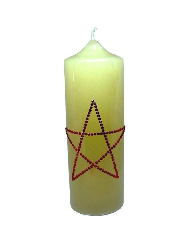 Altarkerzen, Natur mit Pentagramm