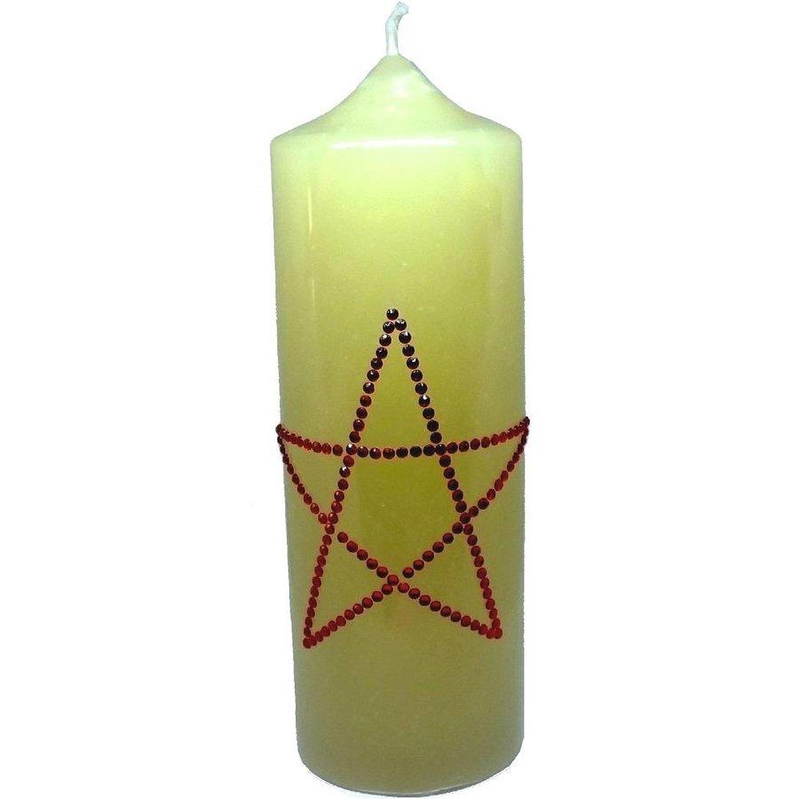 Altarkerzen, Natur mit Pentagramm-3