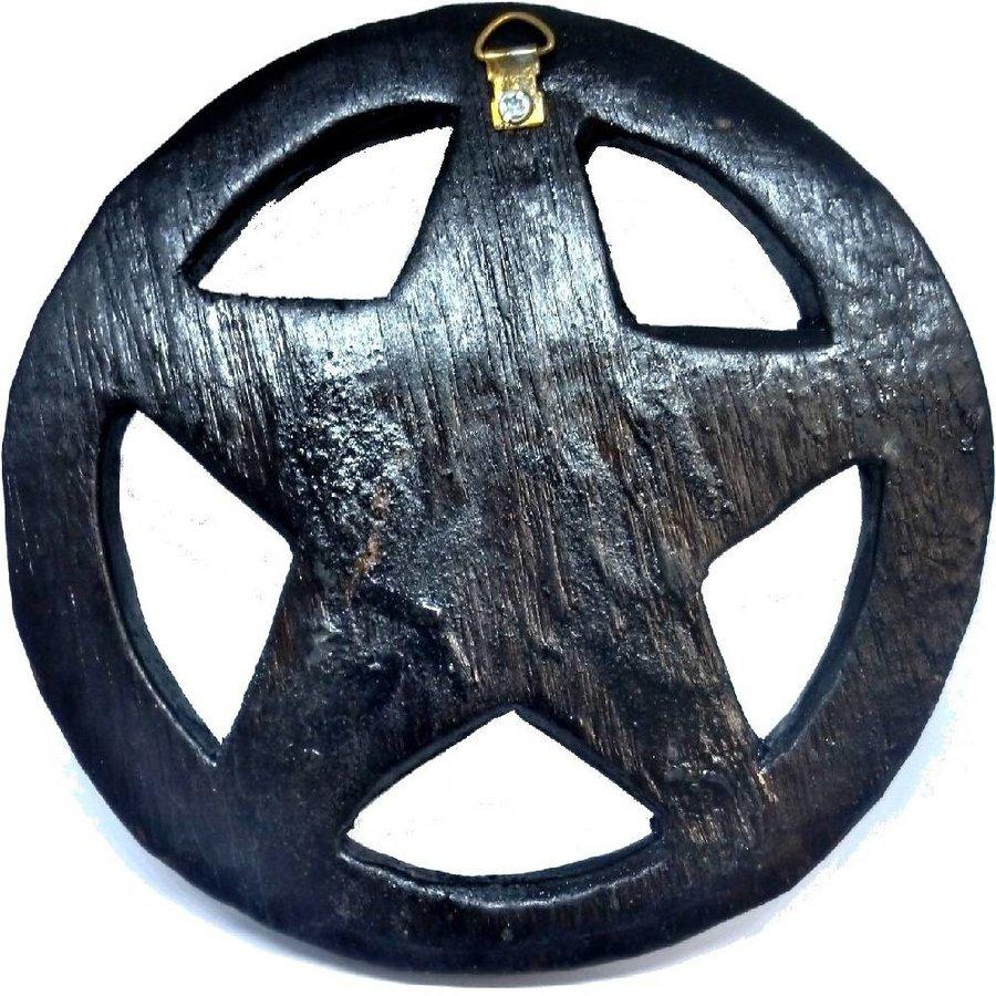Pentagramm, geschnitzt, klein-3