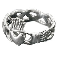 thumb-Schön gearbeiteter Claddagh Ring aus 925 Sterling Silber-1