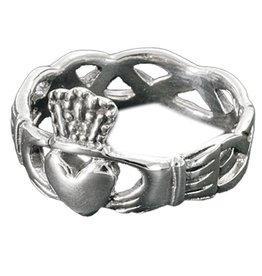 Keltisch Claddagh 925 Sterling Silber