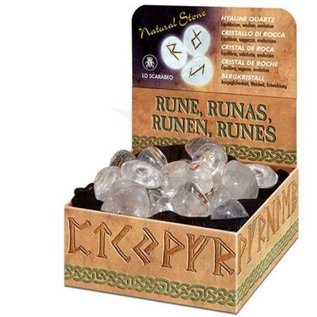 Runen Runenset aus Bergkristall