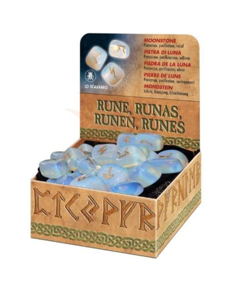 Runen Runenset aus Mondstein in der Geschenkpackung