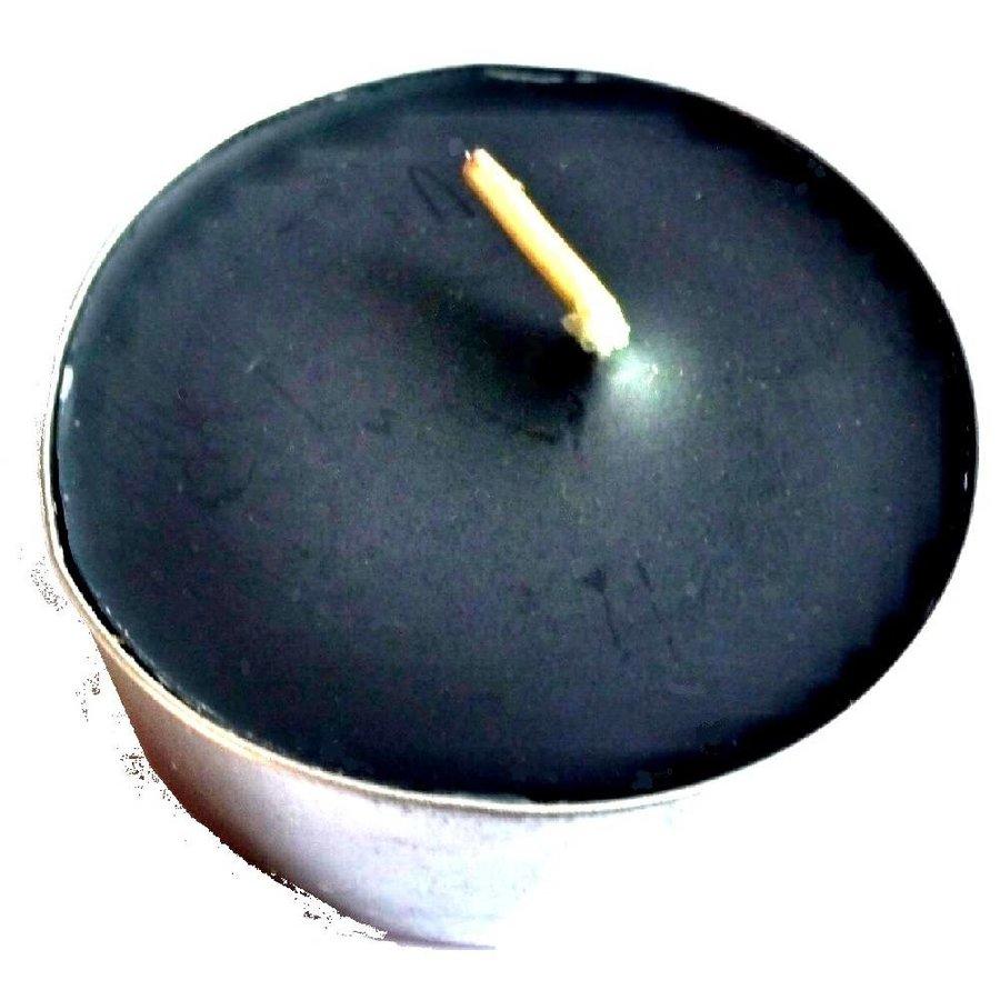 Teelichter, Spitzkerzen und Stabkerzen schwarz-1