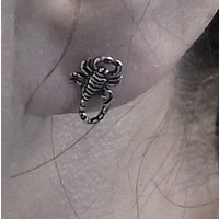 thumb-Ohrstecker Skorpion aus 925 Sterling Silber-2