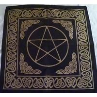 thumb-Altartuch Pentagramm, groß mit Celtic Rahmen und Pentakel-3