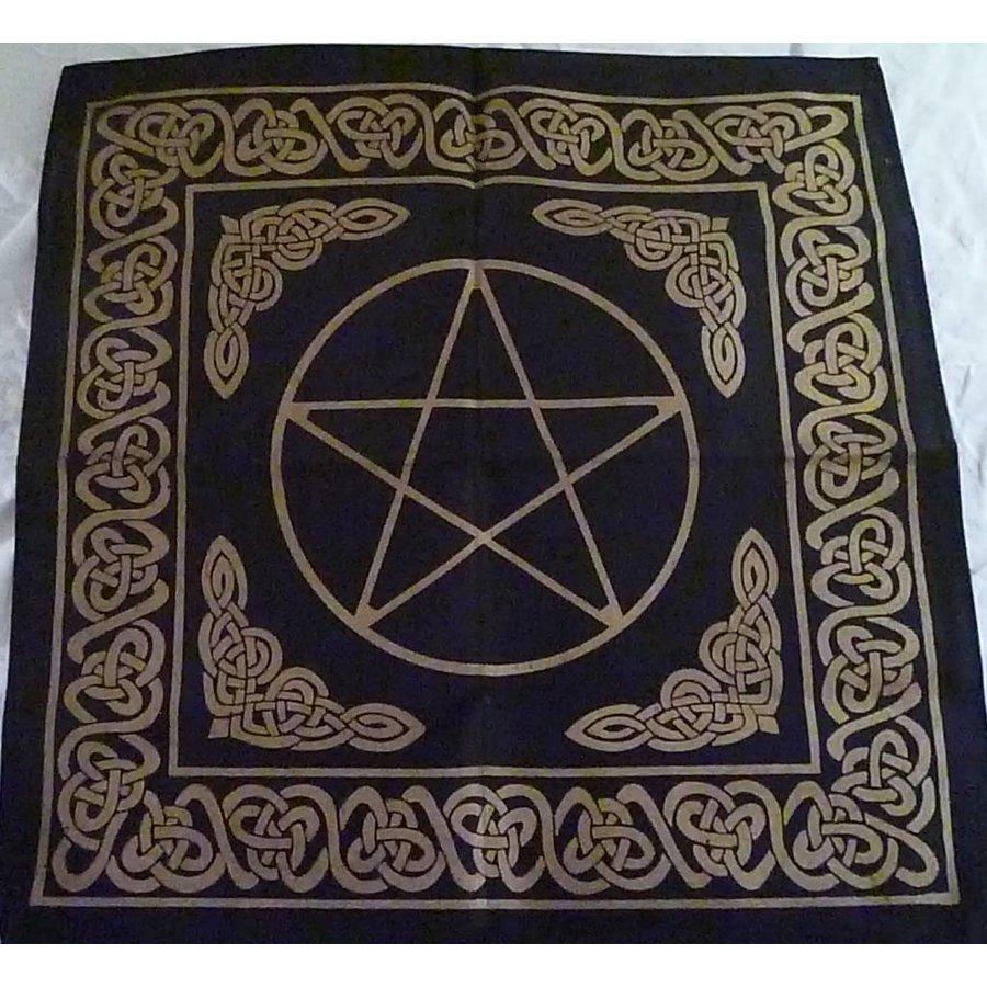 Altartuch Pentagramm, groß mit Celtic Rahmen und Pentakel-3