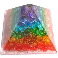 thumb-Orgonit Pyramide mit Regenbogen mit gemischten Steinen-1