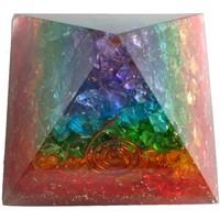 thumb-Orgonit Pyramide mit Regenbogen mit gemischten Steinen-3