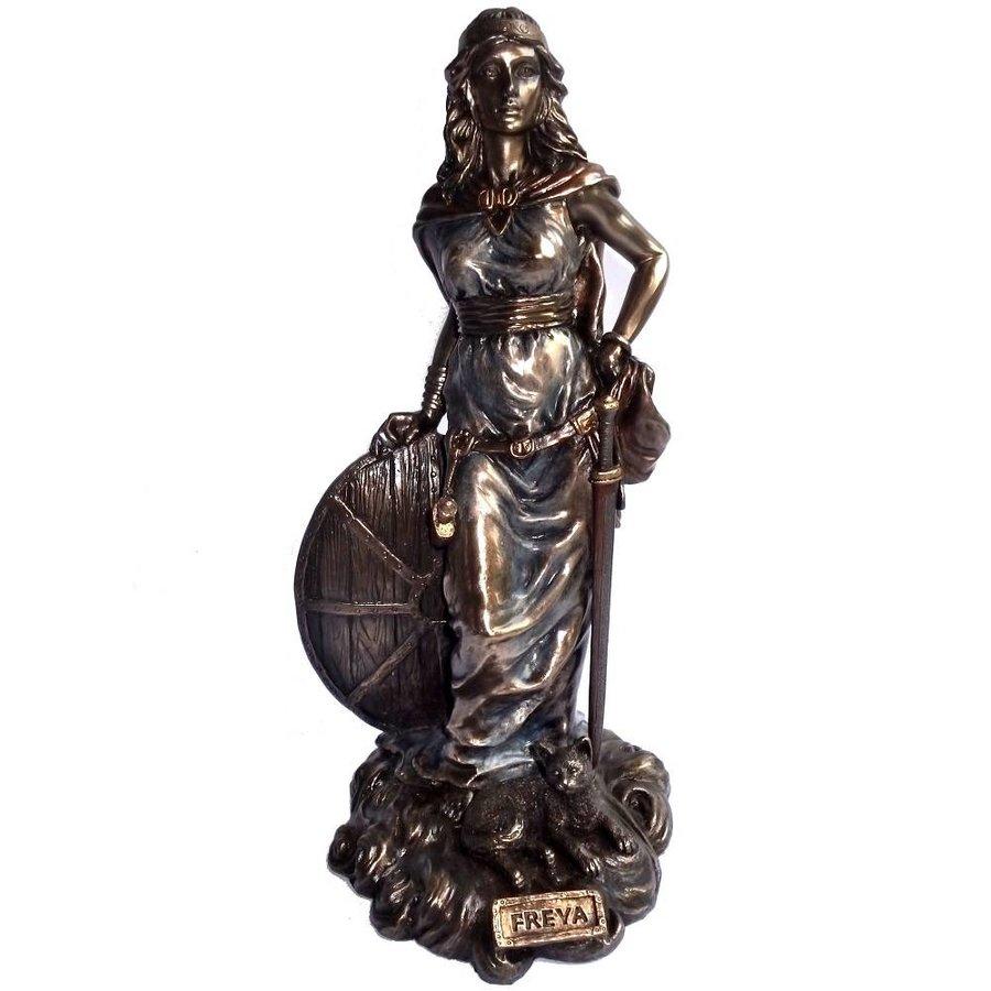 Freya aus Polyresin, bronziert-4
