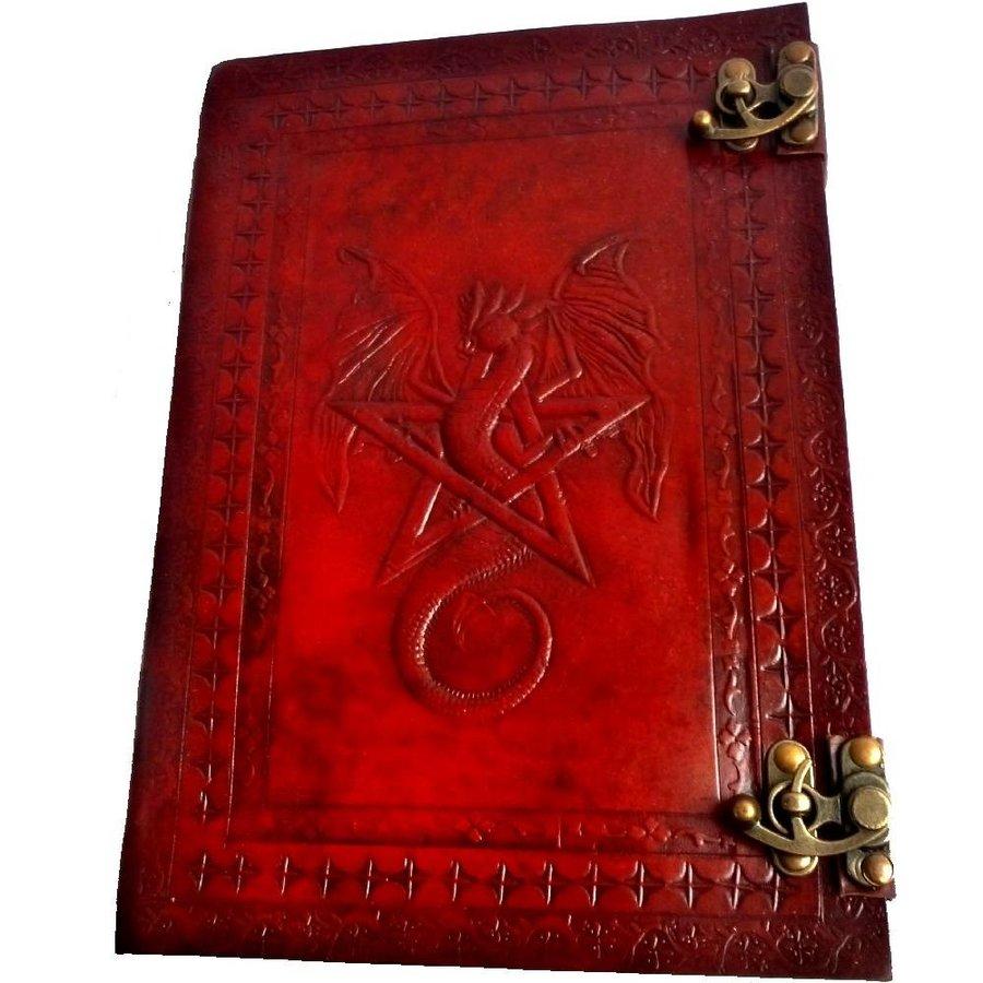 Buch der Schatten mit Ledereinband und Messingbeschlägen-3