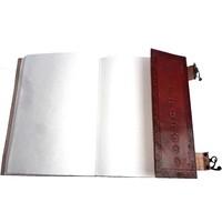 thumb-Buch der Schatten mit Ledereinband und Messingbeschlägen-1