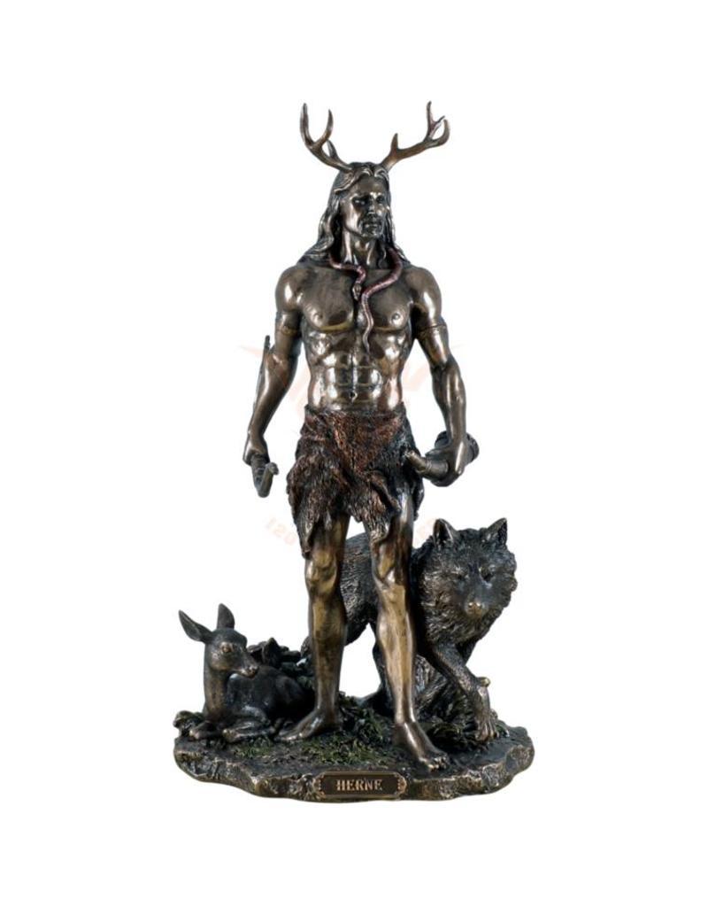 Göttin Cernunnos / Herne aus Polyresin, bronziert