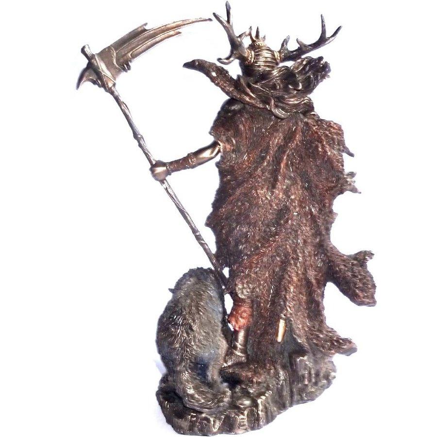 Hel Göttin der Unterwelt aus Polyresin, bronziert-2